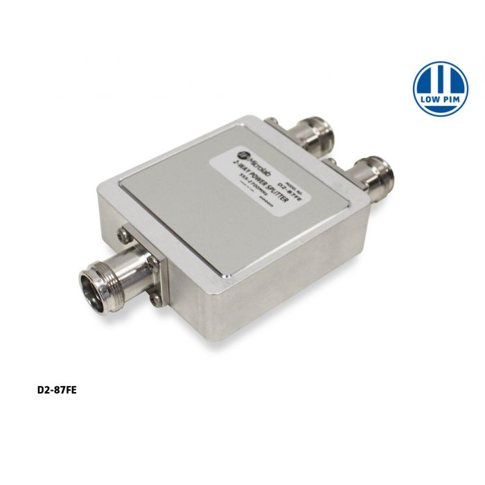 2-way In-line Reactive Split 555-2700MHz 100W 4.3-10