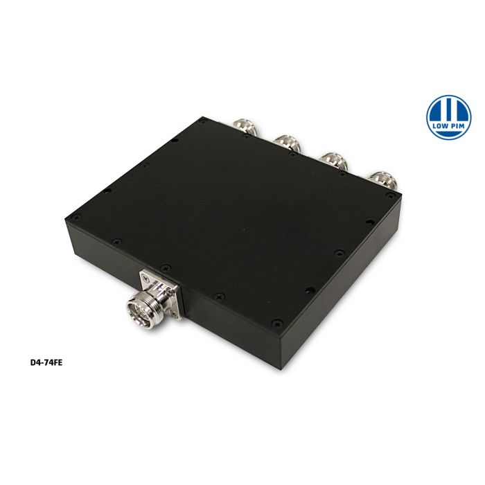 4-way Wilkinson Splitter 575-2700MHz 50W 4.3-10