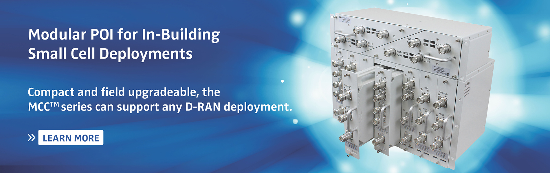 MCC Series Modular POI for In-Building Small Cell Deployments